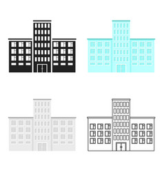 Hospital icon cartoon single building icon from vector