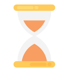 Hourglass flat icon vector