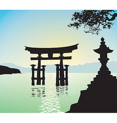 japanese style gate vector image