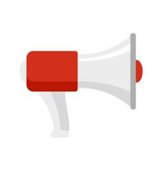 Lifeguard megaphone icon flat style vector