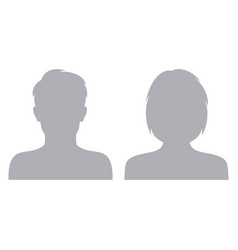 Male and female default avatar profile icon man vector