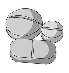 medicinal tabletsmedicine single icon in black vector image