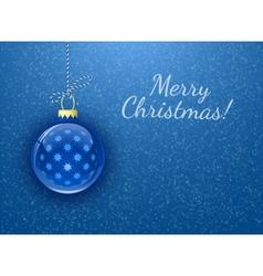 Merry Christmas Christmas card vector image