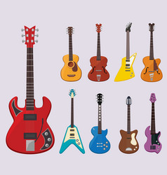 musical guitar live concert instruments sound vector image