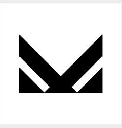 mv vm initials geometric letter company logo vector image