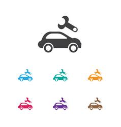 Of vehicle symbol on vehicle vector