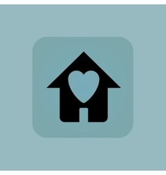 Pale blue beloved house icon vector