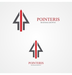 Pointer design logo vector image