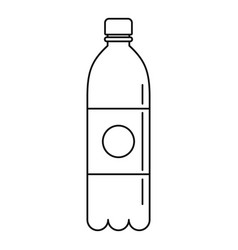 pure water bottle icon outline style vector image