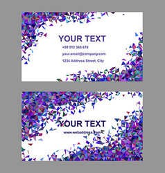 Purple chaotic business card template set vector