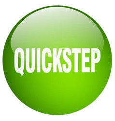 Quickstep green round gel isolated push button vector