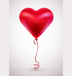 red balloon in form heart on light background vector image