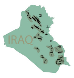 reservoirs of oil in iraq irak map with deposits vector image