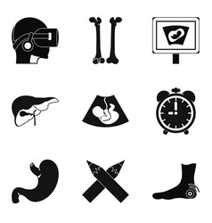 scrag icons set simple style vector image