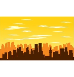 Silhouette of big city at noon vector image