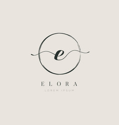 simple elegant initial letter type e logo sign vector image