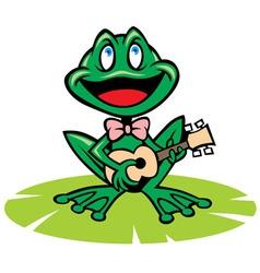 singing frog vector image
