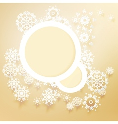 Template frame design for xmas card vector image