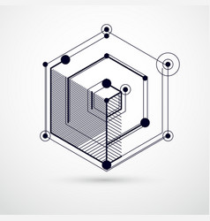 Trend isometric geometric pattern black and white vector