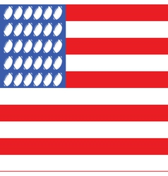 usa football flag 2 vector image