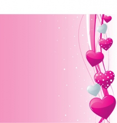 Valentine's heart background vector