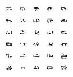 Vehicles Line Icons 2 vector image vector image