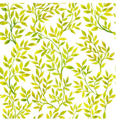 Watercolor green flora vector