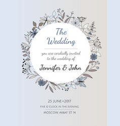wedding invitation or greeting card vector image