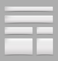 white square set shadow design element vector image