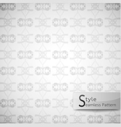 Abstract seamless pattern ribbon bow white vector