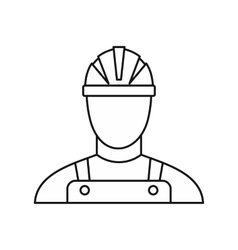 Builder icon outline style vector image