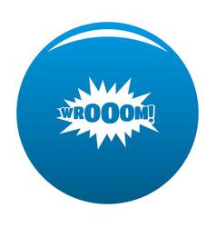 comic boom sticker icon blue vector image vector image