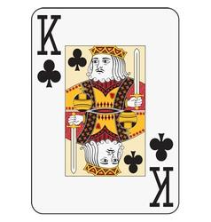 Jumbo index king of clubs vector