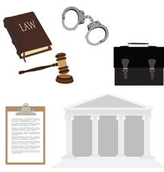 Law symbols vector image vector image