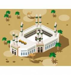 mosque in Mecca vector image