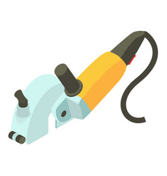 yellow electric sander icon isometric 3d style vector image vector image