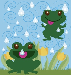 jumping frogs vector image