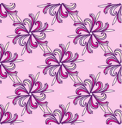 seamless fashion floral pattern pink and purple vector image