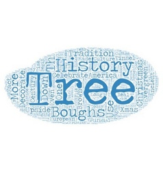 The history of christmas trees text background vector