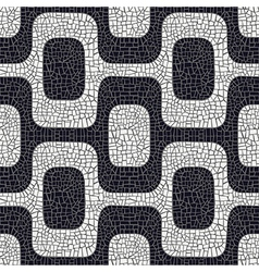 black white pavement pattern vector image vector image