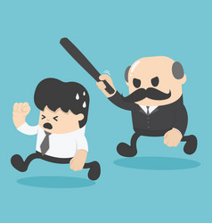businessman was attacked by the boss vector image vector image