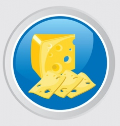 cheese icon vector image vector image