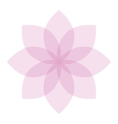 Flower icon colorful plant nature vector image