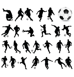football players 3 vector image vector image