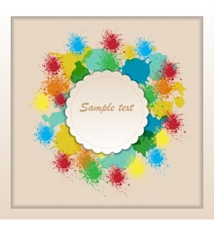frame of color paint spray vector image