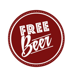 free beer offer poster vector image vector image