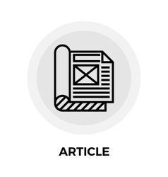 Article Flat Icon vector image