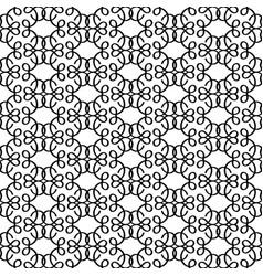Black linear decorative pattern vector
