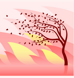 burning tree and wildfire vector image