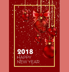 happy new year 2018 christmas ball decoration vector image vector image